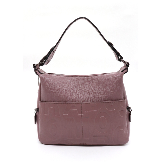 Youmeiyoupin Taro Purple Woman Bag Bucket Tote Work With Printed Letter Element Zipper Closing