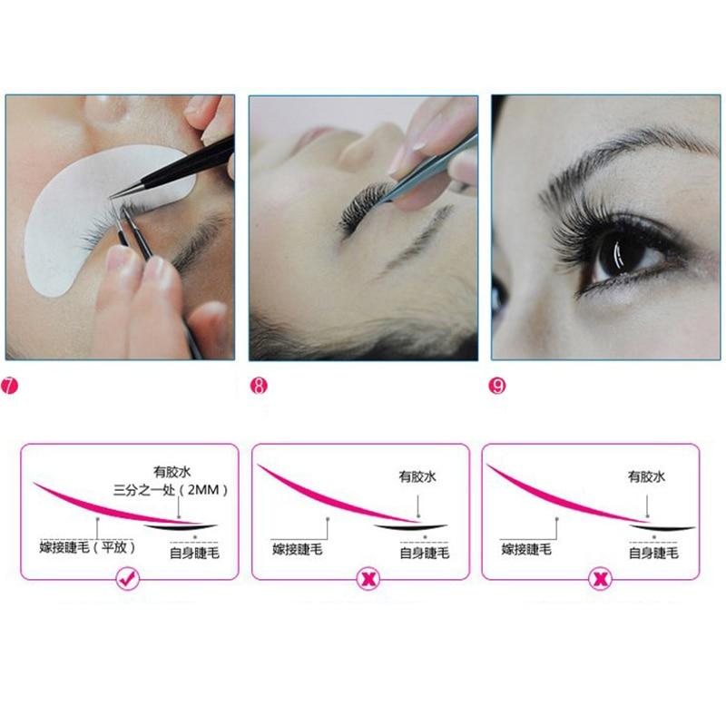 25 Pairs Eyelash Extension Grafted Salon Under Eye Gel Pad Patch Sticker Tape