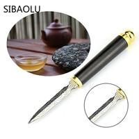 SIBAOLU 1 Pc Stainless Steel Puer Tea Knife For Open Black Tea Brick Knife Tea Cone Puerh Cake Tea Accessories