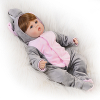 NPK Fashion Simulation Elephant Babies Doll 16 Inch Soft Silicone Reborn Baby Dolls Lifelike Bebe Alive