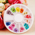 12 Colors Design of Nails Accessoires for Flores Secas 3D Fimo Dried Flowers Nail Art Decorations Nail All Know for Manicure