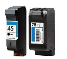 1 Satz kompatibel für HP 45 C51645A 78 C6578D Tintenpatrone für Kleidungsstück CAD Plotter Tinte Jet Drucker Freies Verschiffen heißer Verkauf