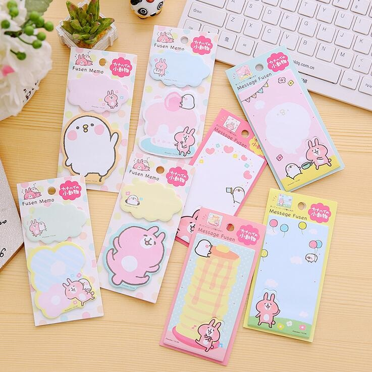 1pack/lot NEW Message Memo Notepad Korean Stationery Sticky Notes Office School Supplies Post It Memo Pad
