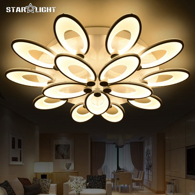 Fashion flower modern LED chandelier Living room RC dimmable lights new house decoration lighting Acrylic chandelier & Fashion flower modern LED chandelier Living room RC dimmable lights ...