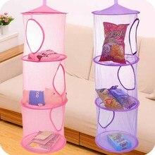 3 полки сетка для хранения подвесная детский игрушечный Органайзер сумка спальня стены двери шкаф органайзеры корзина для игрушек