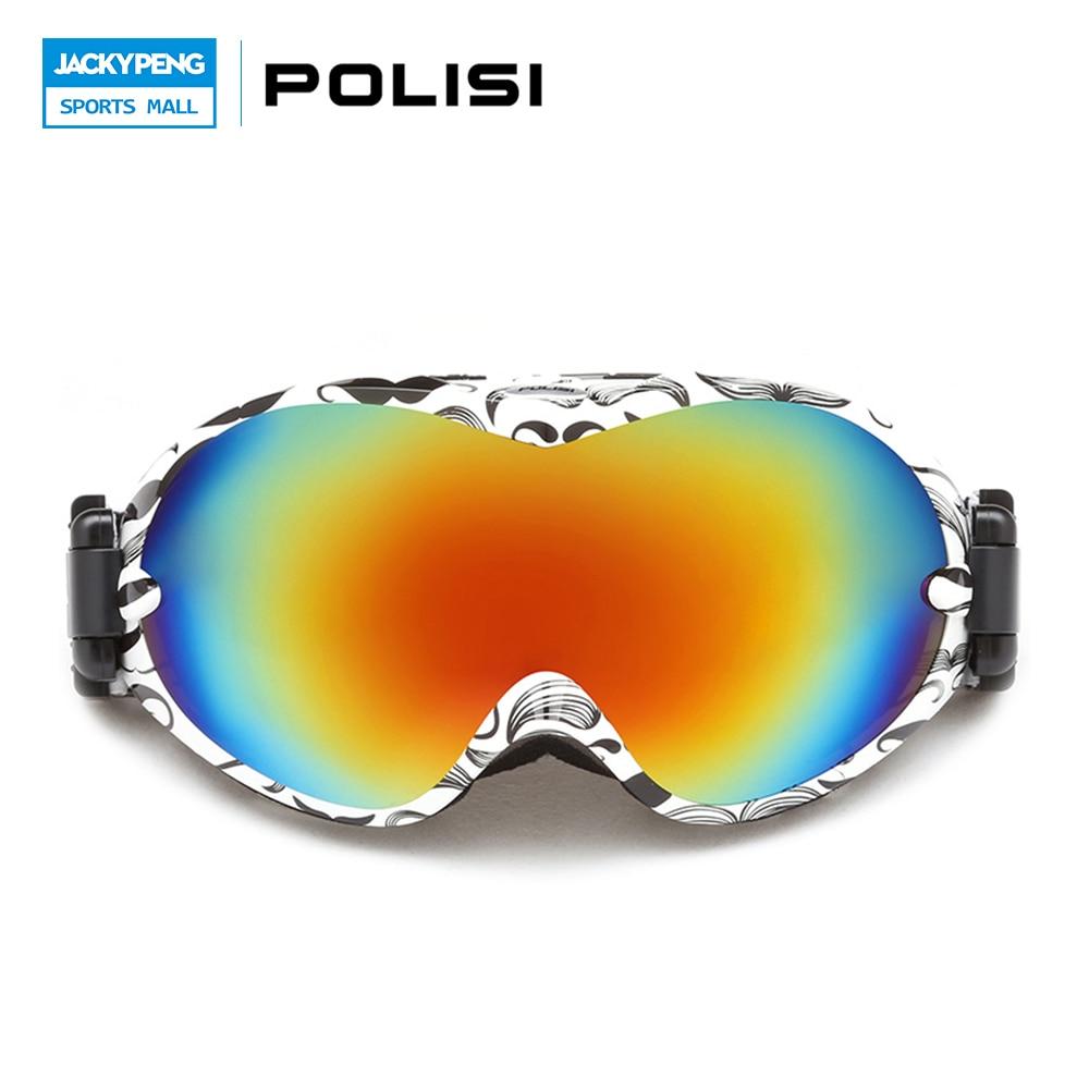 ФОТО POLISI Double Layer Lens Ski Snow Glasses Winter Anti-Fog Snowboard Goggles UV400 Protection Skiing Eyewear Gafas De Nieve