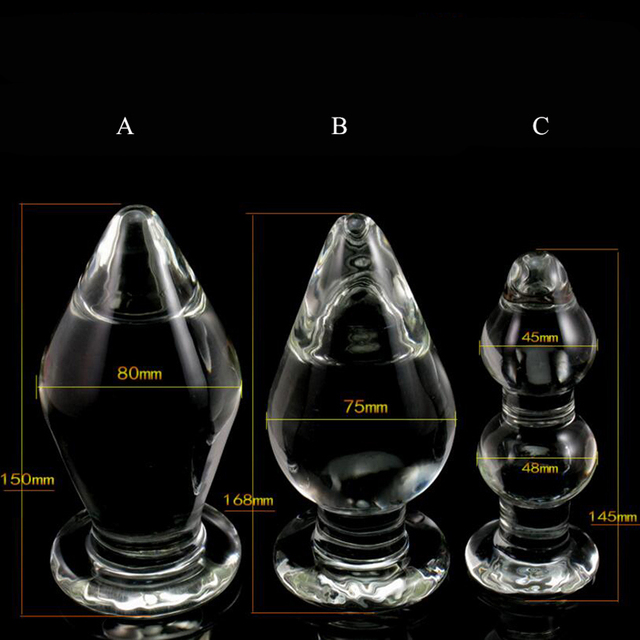 1PCS Big Crystal Dildo Large Glass Anal Plug Female Sex Toy for Women Men Anal Masturbation Male Gay Sex Products for Couples