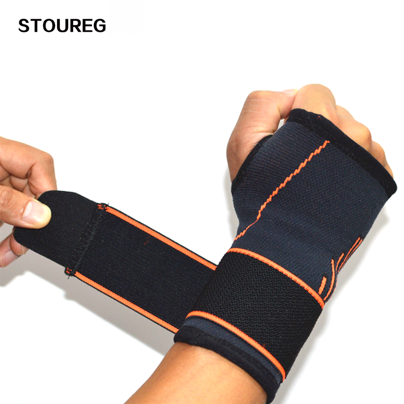 Minanser Cotton Elastic Bandage Hand Sports Arm Bands Safety Wristband Gym Support Wrist Brace Wrap Carpal Tunnel Wrestle Men's Arm Warmers
