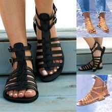Summer Women Shoes Flat Beach Sandals Ladies Fashion Roma Fl