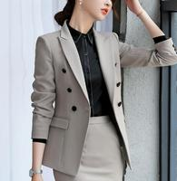 Fashion Elegant women skirt suits set temperament V Neck short sleeve slim blazers with skirt office ladies work wear