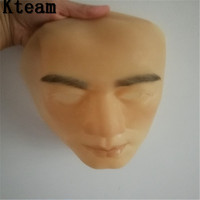 Top Grade Handmade Silicone Sexy And Sweet Half Female Face Mask Ching Crossdress Mask Crossdresser Doll Human Skin Mask Toys