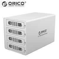 ORICO Tool Free Aluminum 4 Bay 3.5 SATA USB3.0&eSATA HDD External Docking Station RAID Function 4bay HDD Case