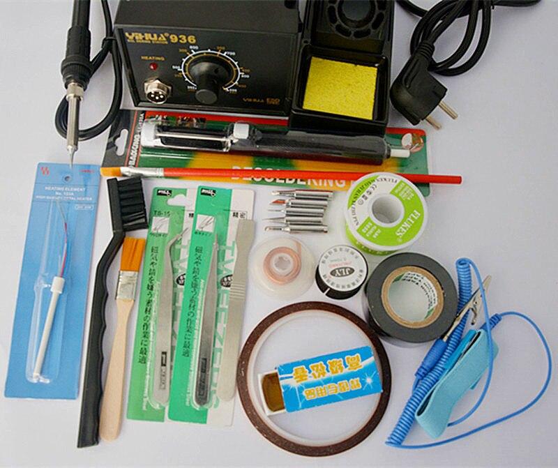 High precision 936 Adjustable temperature Digital Electric Soldering station 220V/110V EU/US plug  цены