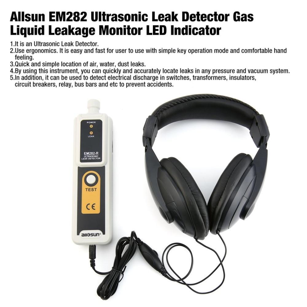 Allsun EM282 Ultrasonic Leak Detector 40KHz Transmitter Reliable Detection Gas Liquid Leakage Monitor LED IndicatorAllsun EM282 Ultrasonic Leak Detector 40KHz Transmitter Reliable Detection Gas Liquid Leakage Monitor LED Indicator