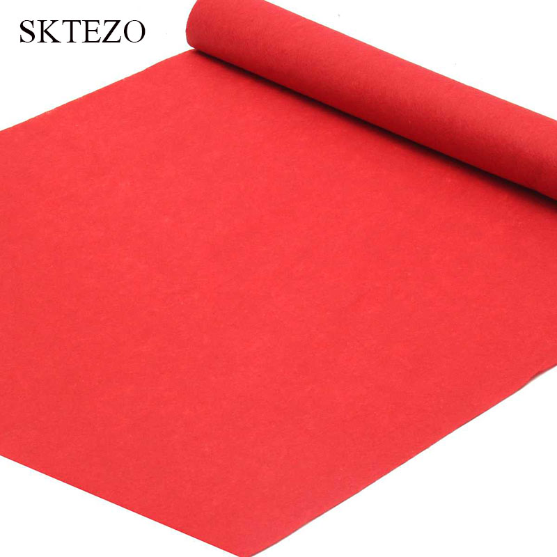 Brand 1m To 18 Meters Red Wedding Banquet Celebration Carpet Film Festival Outdoor Event Reward Decoration Carpet Shipping Free