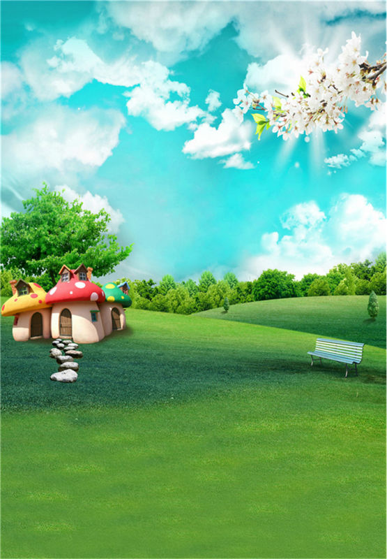Blue Sky Baby Background Photo Studio Props Green Grass Photography Backdrops Scenic Vinyl 5x7ft or 3x5ft jiegq46 allenjoy backdrop spring background green grass light bokeh dots photocall kids baby for photo studio
