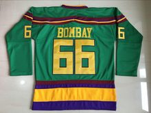 Ediwallen Anaheim Ducks 66 Gordon Bombay Ice Hockey Jerseys The Mighty Movie Green 1993 Vintage Breathable For Sport Fans(China)