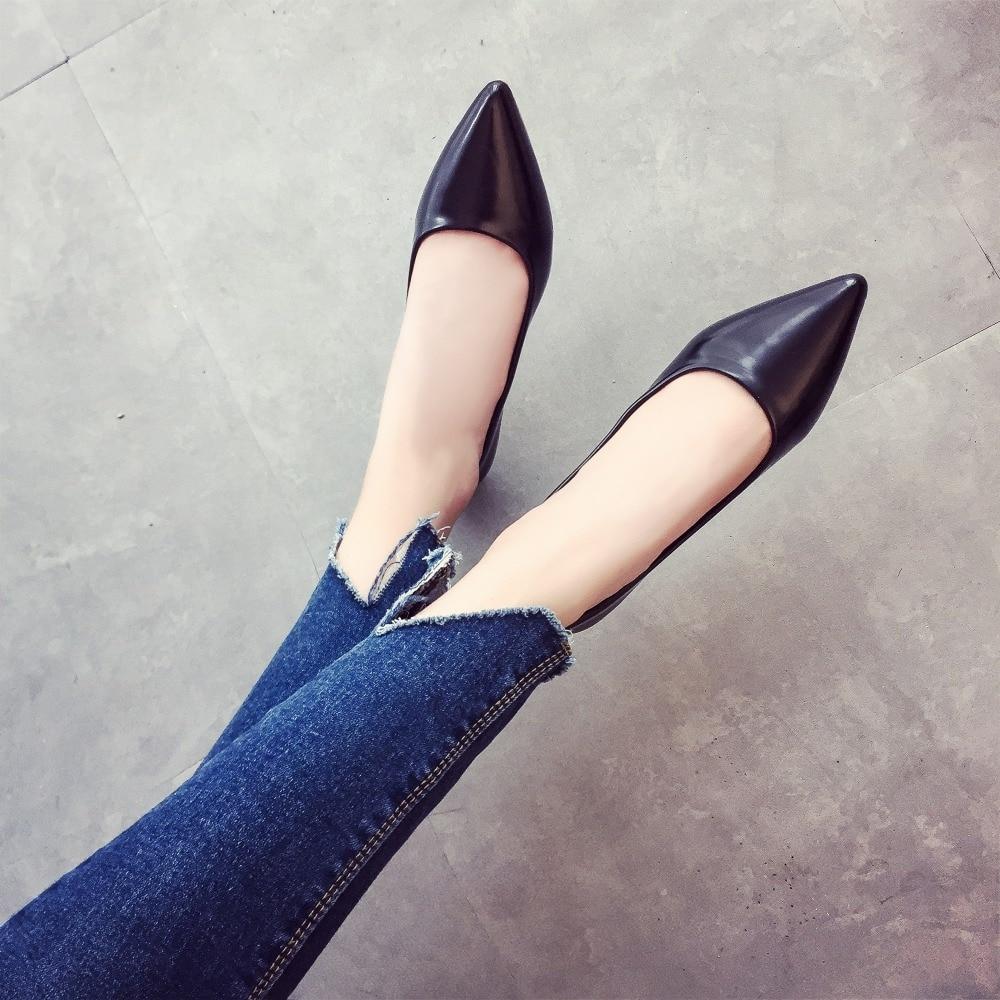 Simples 2017 Chaussures Et V810 Mode Confortables Femmes Bout Pointu Noir on vert rose Plat Slip De Casual 8q8FPr0