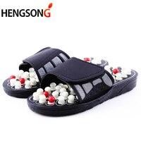 Acupoint массажные тапочки для мужчин и женщин сандалии китайский акупрессур Терапия Медицинская вращающаяся Массажная обувь для ног унисекс
