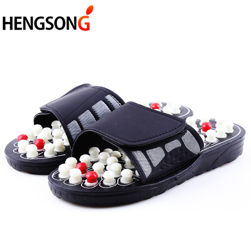 Acupoint Massage Slippers For Men Women Sandals Feet Chinese Acupressure Therapy Medical Rotating Foot Massager Shoes Unisex