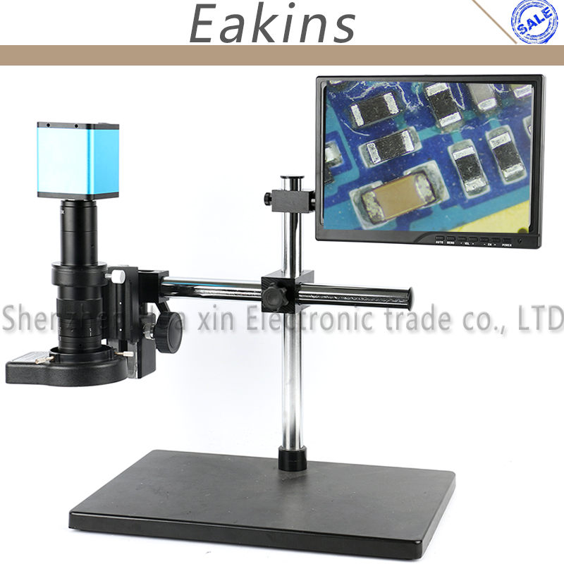 Supporto Da Tavolo Braccio regolabile 1080 P SONY SENSORE IXM290 Messa A Fuoco Automatica HDMI Industria Microscopio Video Sistema di Lavoro Della Macchina Fotografica Per PCB riparazione