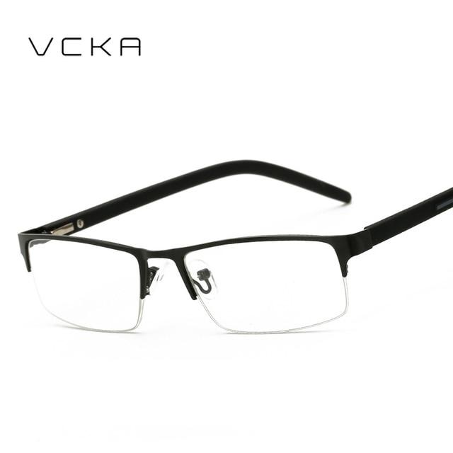 ad123b82ffec6 VCKA óculos de Leitura meia-armação de Metal de Alta Qualidade Dos Homens  Ultra-