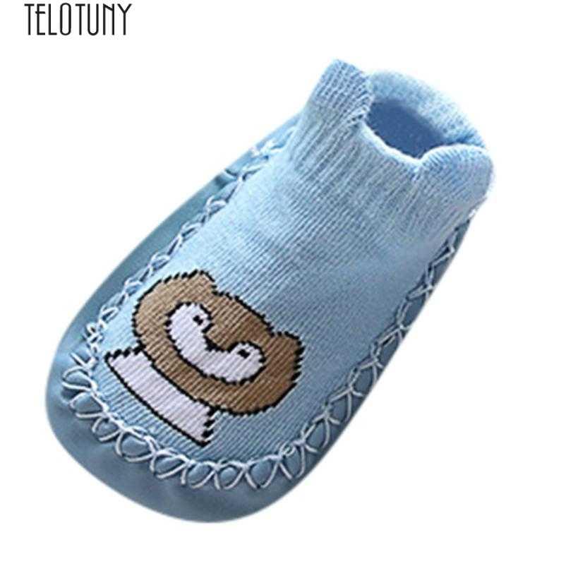 71c970756145de TELOTUNY Newborn First Walkers Kid Shoes Baby Cartoon Animal Baby Girls  Boys Anti-Slip Slipper
