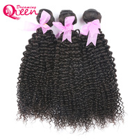 לארוג שיער מונגולי קינקי מתולתל 3 חבילות/חתיכה חולם מוצרים לשיער המלכה 100% אדם תוספות שיער שיער הלא רמי