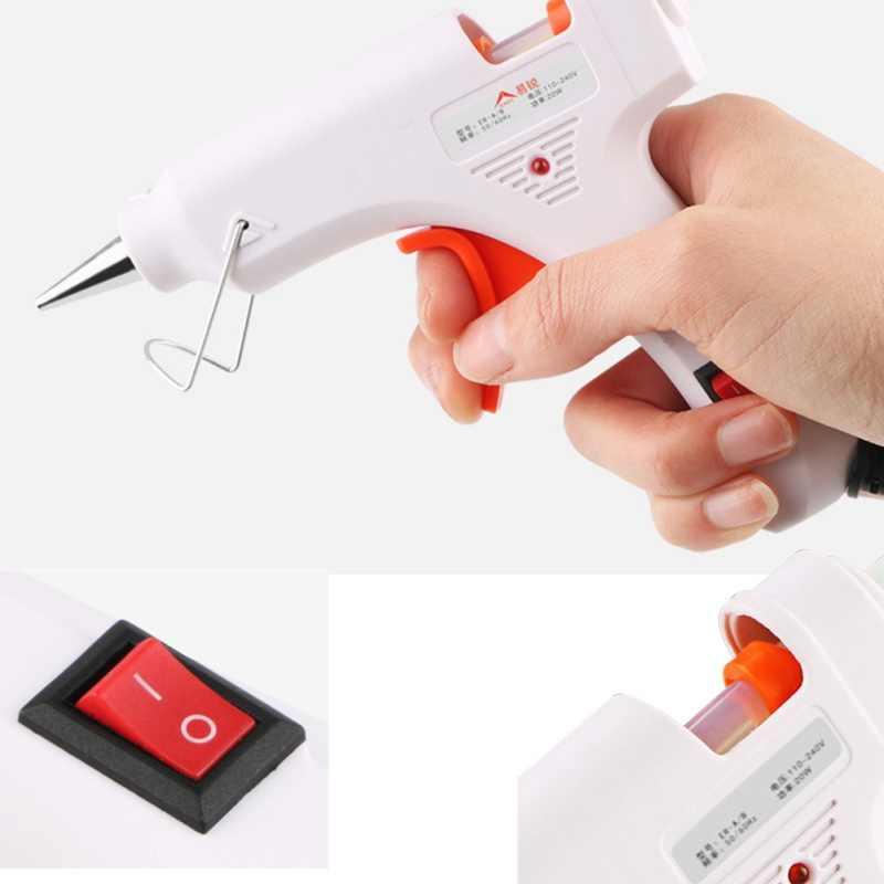 Hot Melt Glue Gun Mini Professional High Temp Graft Repair Tool Electric Heat Gun DIY Thermo Tool