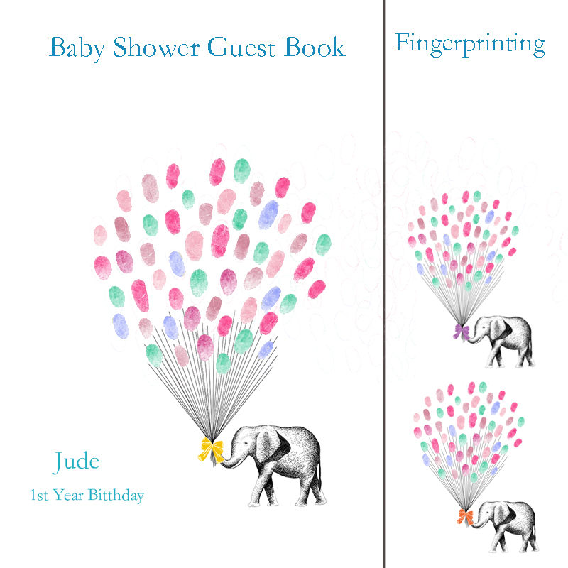 Pictures For Guests Fingerprints And Wishes: Aliexpress.com : Buy Personalzie Baby Shower Party Guest