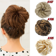 HiDoLA hort Hair Curly Elastic Chignon for Women with Extensions Synthetic Fake Ponytail Accessory