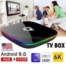 Newest 6K Q Plus Android 9.0 TV BOX 4GB+32GB H6 Quad Core HD Media Player