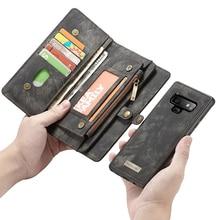 CaseMeสำหรับiPhone 12 11 Pro MAX Retroหนังแม่เหล็กที่ถอดออกได้สำหรับGalaxy Note 10 Plus 9 8 S10 Plus S10E