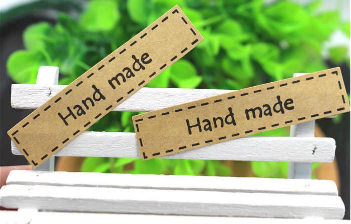 Hand made Scrapbooking Kraftpapier Etiketten Enveloppen Verpakking Seals Sticker DIY Voor Cake Box Wikkelen Bakken Decor 1 Lot = 16 Pcs