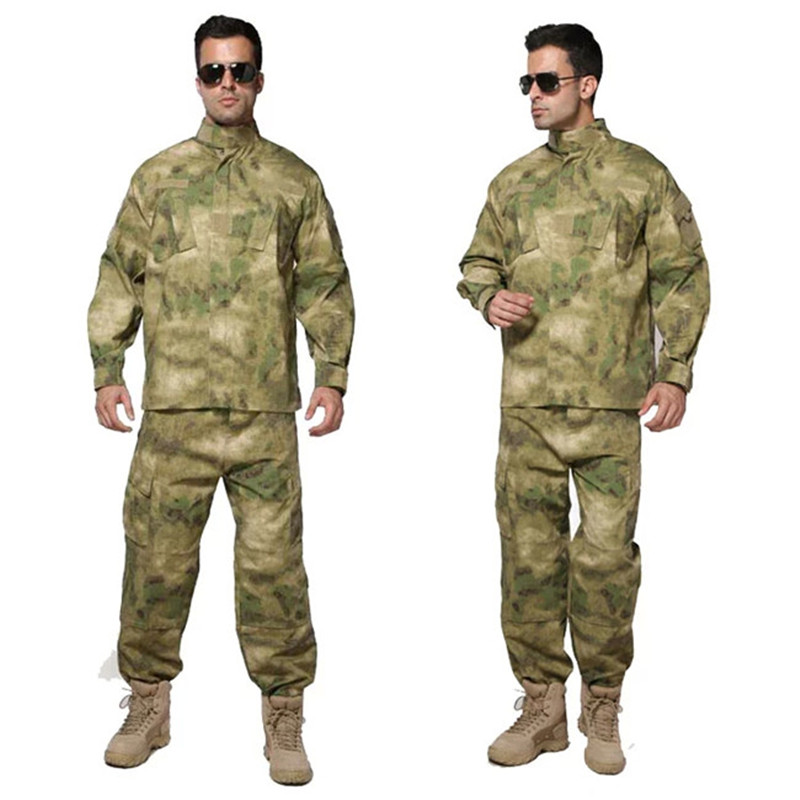 Men Jungle Outdoor Tactical Military Combat Uniform Camouflage Suit Hunting Long Sleeve Jacket Long Pants Trousers Set Clothing цена 2017