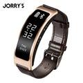 JORRY'S Luxo Smartband Oled Pulseira Monitor de Sono Rastreador Esportes Fitness Mensagem de Chamada Lembrete Monitor de freqüência cardíaca