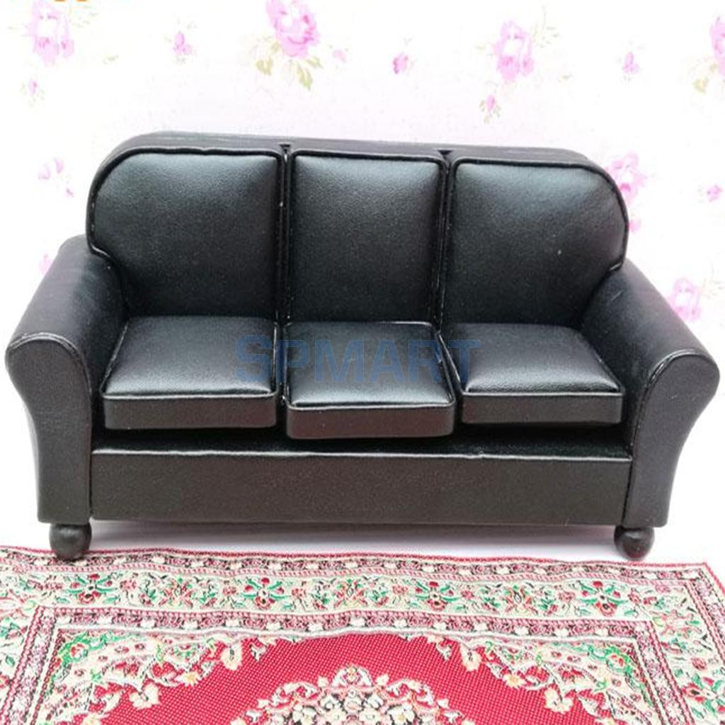 1/12 Dollhouse Furniture Leather Sofa Couch Chair
