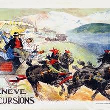 Suiza Ginebra viajes carteles Geneve excursión clásico pegatinas de pared de la lona de póster vintage de pintura Bar decoración regalo