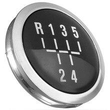 1pc Gear Knob Cap 5 Speed Manual Gear Shift Knob Cap Cover Emblem For VAUXHALL OPEL ASTRA III H CORSA D 04-10