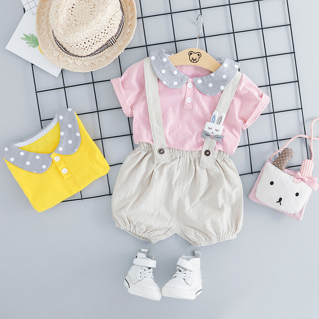 aaf10028761fc US $4.69 57% OFF|MUQGEW 2019 Hot Sale Toddler Baby Kids Boys Girls Dot Tops  Rabbit Bunny Overall Pants Casual Outfits Baby Girl Summer Clothes-in ...