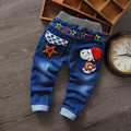 2016 New Fashion Children Baby Boy Clothes Boys Cartoon Causal Desiner Spring Warm Elastic Sport Kids Boys Jeans Pants Trousers