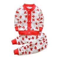 BibiCola Baby Girl Sweater Infant Cartoon Round Collar Baby Boy Fleece Sweater Children Thick Sweater Children
