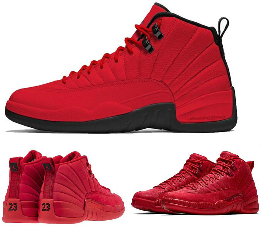 ed418df84df8 Jordan Retro 12 Gym red Basketball shoes Bulls Michigan University blue  College ovo white Dark Grey