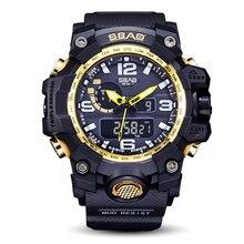 New 2016 Quartz Digital Camo Watch Men Dual Time Man Sports Watches Men Shock Military Army Reloj Hombre LED Wristwatch