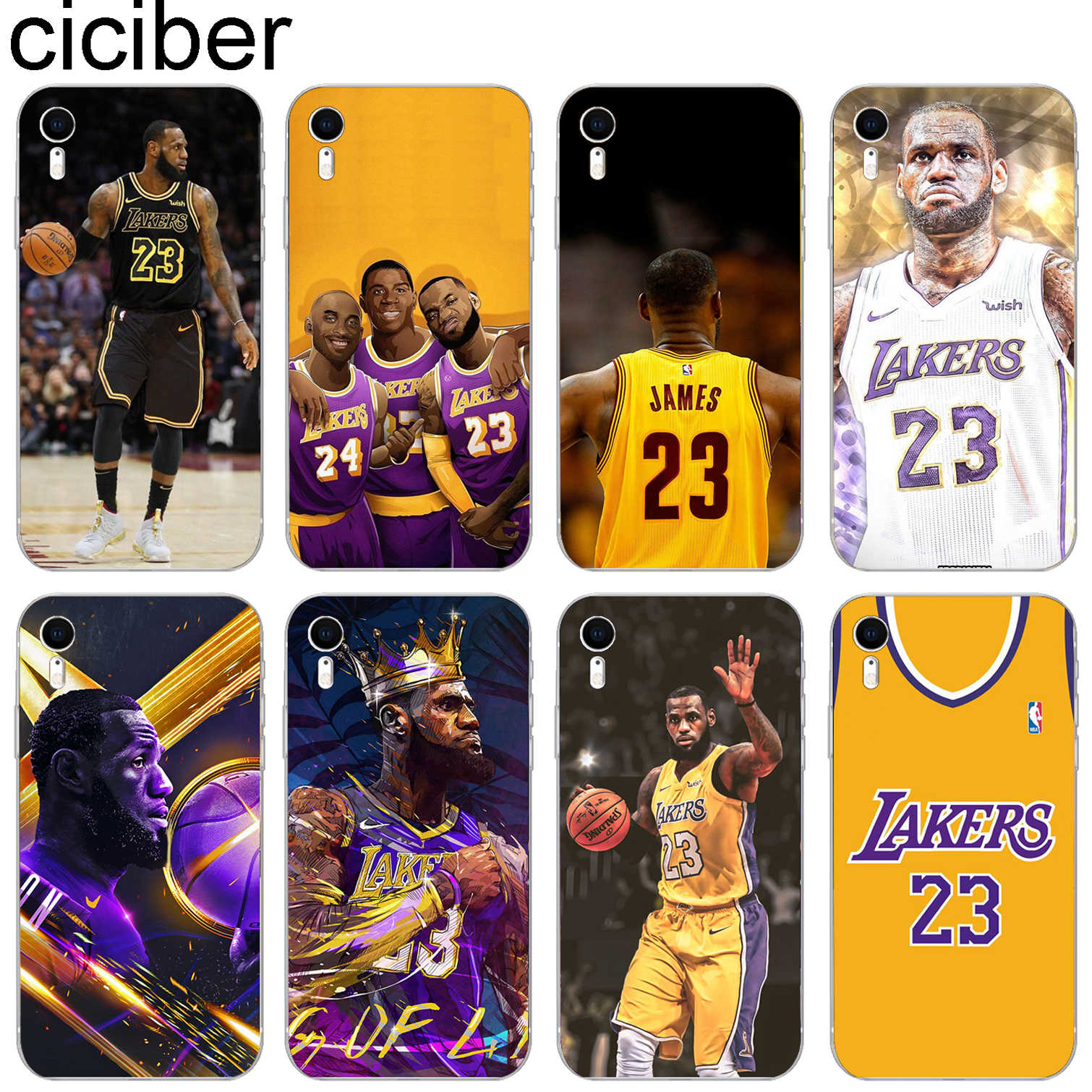 8e24f42f51242d Ciciber Sports Basketball Pattern Design Soft Silicone Phone Cases Cover  for Iphone 8 7 6 6S