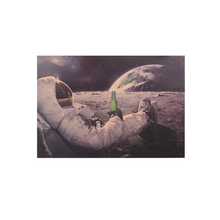 Relaxing on Moon Poster