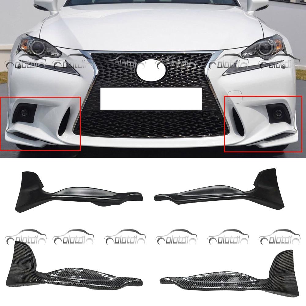 Fibre de carbone de Style TRD/épissures avant de pare-chocs de lèvre avant matérielle d'unité centrale pour Lexus IS F-SPORT 2013-2015 Style de voiture