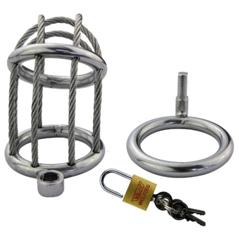 Stainless Steel Wire Chastity Cock Lock Chastity Belt Penis Rings Male Chastity Cages Devices Toy AdultSex Shop For Men G161