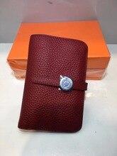Kafunila genuine real cow leather passport card holder women litchi pattern clutch cellphone case coin wallet designer purse