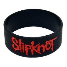 1PC Slipknot Silicone Bracelet 1 Inch Wide Debossed Logo for Music Concert